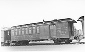 #209 baggage &amp; coach combine.<br /> D&amp;RGW  Alamosa, CO  Taken by Perry, Otto C. - 4/1935