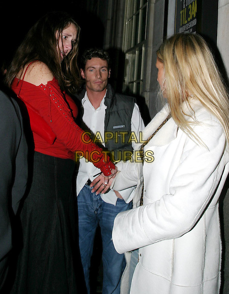 DEAN GAFFNEY.leaving Chinawhite nightclub.10 December 2003.girls.www.capitalpictures.com.sales@capitalpictures.com.© Capital Pictures.