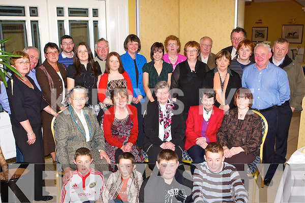Sr Ursulla Newmarket and Killarney seated centre who celebrated her retirement with her family in the Dromhall Hotel Killarney on Sunday..     Copyright Kerry's Eye 2008