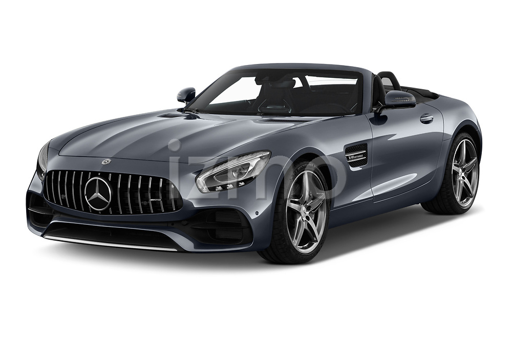 2019 Mercedes Benz AMG GT base 2 Door Roadster angular front stock photos of front three quarter view