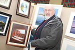 Artist Paddy Burke at the Art Exhibition in Scoil Aonghusa...(Photo credit should read Jenny Matthews www.newsfile.ie)....This Picture has been sent you under the conditions enclosed by:.Newsfile Ltd..The Studio,.Millmount Abbey,.Drogheda,.Co Meath..Ireland..Tel: +353(0)41-9871240.Fax: +353(0)41-9871260.GSM: +353(0)86-2500958.email: pictures@newsfile.ie.www.newsfile.ie.