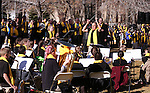 Director Warren Krch and the Learning Bridge Charter School band, of Ely, performs for several hundred people at the &quot;Nevada Supports School Choice&quot; rally to raise awareness of educational choices on the Capitol grounds in Carson City, Nev., on Wednesday, Jan. 28, 2015. <br /> Photo by Cathleen Allison