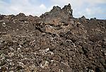 Lava field rocks close up at Timanfaya Volcano Interpretation and Visitors' Centre, Lanzarote, Canary Islands, Spain