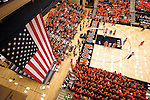 Sentinel/Dan Irving.Fans pack the new Hope College DeVos Fieldhouse to see the first men's and women's games on Saturday night..(11/19/05)