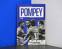 The match day programme during Portsmouth vs Luton Town, Sky Bet EFL League 1 Football at Fratton Park on 4th August 2018