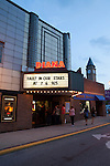 Diana Movie Theater at twilight, Tipton, Indiana, USA