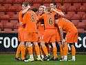 GARY MACKAY-STEVEN CELEBRATES AFTER HE SCORES DUNDEE UTD'S THIRD