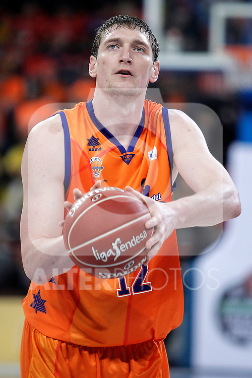 Valencia Basket Club's Serhiy Lishchuk during Spanish Basketball King's Cup semifinal match.February 07,2013. (ALTERPHOTOS/Acero)