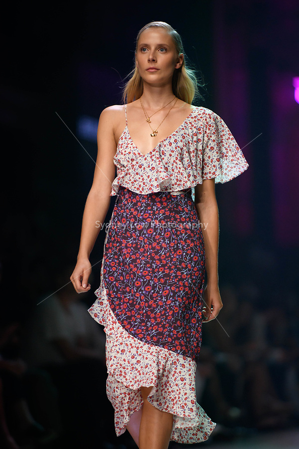 6 March 2018, Melbourne - Models showcase designs by Hansen & Gretel during the Runway 2 show presented by Elle Magazine at the 2018 Virgin Australia Melbourne Fashion Festival in Melbourne, Australia. (Photo Sydney Low / asteriskimages.com)