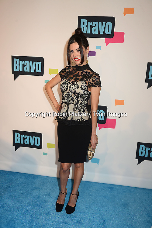 Adriana De Moura of Miami arrives at the Bravo 2013  Upfront on April 3, 2013 at Pillars 37 Studio in New York City.