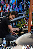 Merri Creek Pickers performing on the rooftop at The Evelyn, Melbourne, 12 May 2012