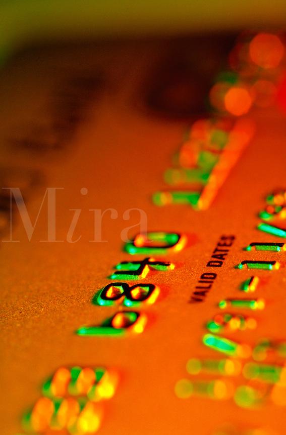 close up of an imprint of a credit card