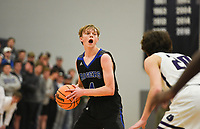 Rogers Will Liddell (4) reacts during a basketball game, Friday, January 10, 2020 at Fayetteville High School in Fayetteville. Check out nwaonline.com/200111Daily/ for today's photo gallery.<br /> (NWA Democrat-Gazette/Charlie Kaijo)