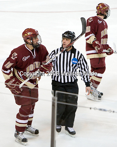 Nick Petrecki (BC - 26) - The Boston College Eagles defeated the Miami University RedHawks 4-3 in overtime on Sunday, March 30, 2008 in the NCAA Northeast Regional Final at the DCU Center in Worcester, Massachusetts.