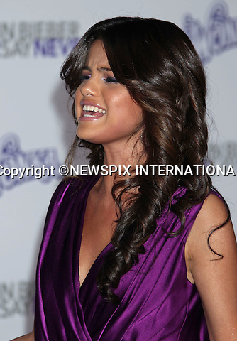"SELENA GOMEZ.at Justin Bieber's ""Never Say Never"" World Premiere, Nokia Theatre, Los Angeles_08/02/2011.Mandatory Photo Credit: ©M.Philips_Newspix International..**ALL FEES PAYABLE TO: ""NEWSPIX INTERNATIONAL""**..PHOTO CREDIT MANDATORY!!: NEWSPIX INTERNATIONAL(Failure to credit will incur a surcharge of 100% of reproduction fees)..IMMEDIATE CONFIRMATION OF USAGE REQUIRED:.Newspix International, 31 Chinnery Hill, Bishop's Stortford, ENGLAND CM23 3PS.Tel:+441279 324672  ; Fax: +441279656877.Mobile:  0777568 1153.e-mail: info@newspixinternational.co.uk"