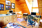Top selling author Karin Slaughter does all her writing in a cabin in Epworth, Georgia. Her father Howard built the 2,400 square foot cabin for her. The upstairs office with a handmade desk, seen June 13, 2010..CREDIT: Kendrick Brinson/LUCEO.KarinSlaughter