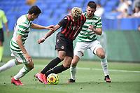16th July 2020; Nice, France; Veolia Trohy Football friendly, OGC Nice versus Celtic FC;   Ishan Sacho nice takes on Ryan Christie celtic