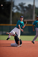 Jared Stouffer (62) of Waynesboro, Pennsylvania during the Baseball Factory Pirate City Christmas Camp & Tournament on December 30, 2018 at Pirate City in Bradenton, Florida. (Mike Janes/Four Seam Images)