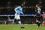 Wilfried Bony of Manchester City celebrates scoring his sides fourth goal - Manchester City vs Monchengladbach - UEFA Champions League - Etihad Stadium - Manchester - 08/12/2015 Pic Philip Oldham/SportImage