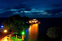 THE COLORFUL LIGHTS FROM THE TRUK STOP DIVE CENTER,TRUK LAGOON, OR CALLED CHUUK, MICRONESIA, A WRECK DIVERS PARADISE, MICRONESIA, PACIFIC