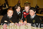 Pictured at the Tralee Credit Union Schools Quiz Brandon hotel on Sunday were Ian Walsh, Michelle Garvey, Joseph Brosnan and Cillian Keane from Schoil Mhuire Brosna.