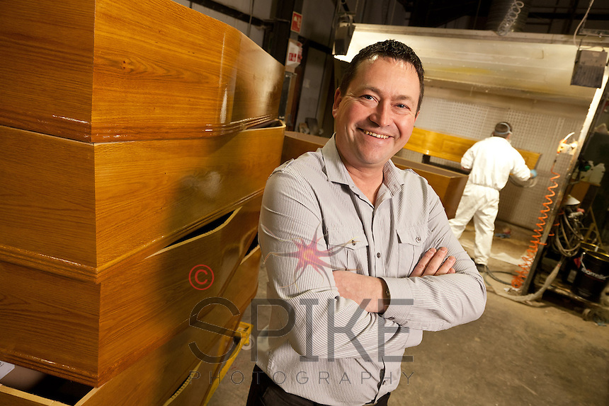 Steve Soult, owner of coffin makers Steve Soult Ltd of Kirkby-in-Ashfield