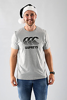 Pictured: Ashley Beck of the Ospreys<br /> Swansea City FC and Ospreys RFC Christmas photo shoot at the Fairwood Trainining Ground, near Swansea, Wales, UK. 17 October 2017
