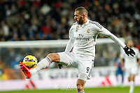 Real Madrid's French forward Karim Benzema