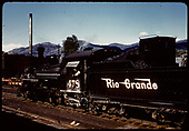 D&amp;RGW #478 K-28 in Chama with engine house in background.<br /> D&amp;RGW  Chama, NM