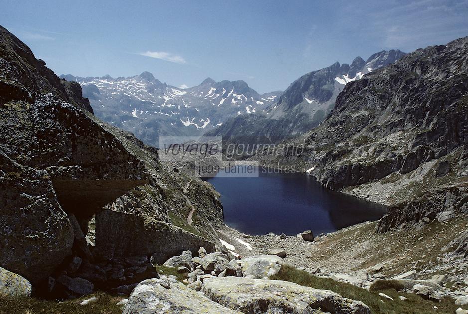 Europe/France/Midi-Pyrénées/65/Hautes-Pyrénées/Parc National des Pyrénées/Env Cauterets: Lac Nere