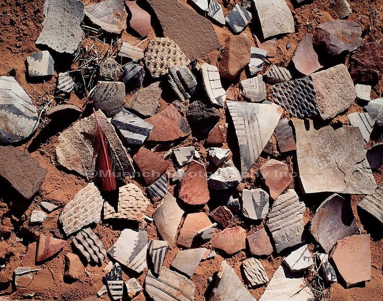 """Anasazi potshards, Longhouse Ruin   ARIZONA"""