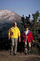 Marge (MR451) & Bill Precise (MR452) walking, Boreas Pass Road, Summit County, CO. Marge & Bill Precise (MR451 & 452). Summit County, Colorado.