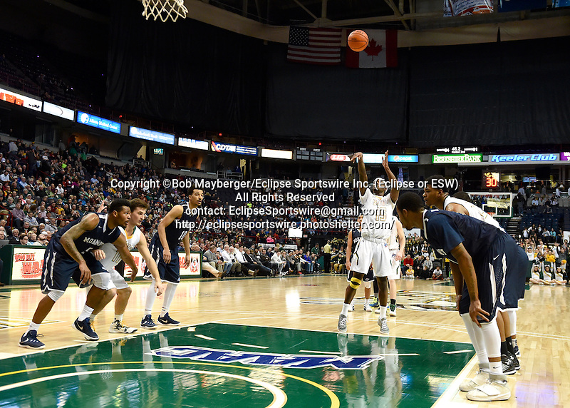 Monmouth defeats Siena 93-87 in a game on February 01, 2016 at the Times Union Center in Albany, New York.  (Bob Mayberger/Eclipse Sportswire)