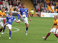 Apostolos Vellios controls the ball in the Motherwell v Everton friendly match at Fir Park, Motherwell on 21.7.12 for Steven Hammell's Testimonial.