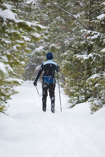 Cross Country skiing in the Rattlesnake recreation Area near Missoula, Montana