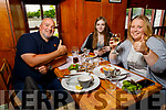 John, Isabel and Agnes Shaw family from Lixnaw say cheers with their meal in Kate Brownes Ardfert on Monday afternoon.
