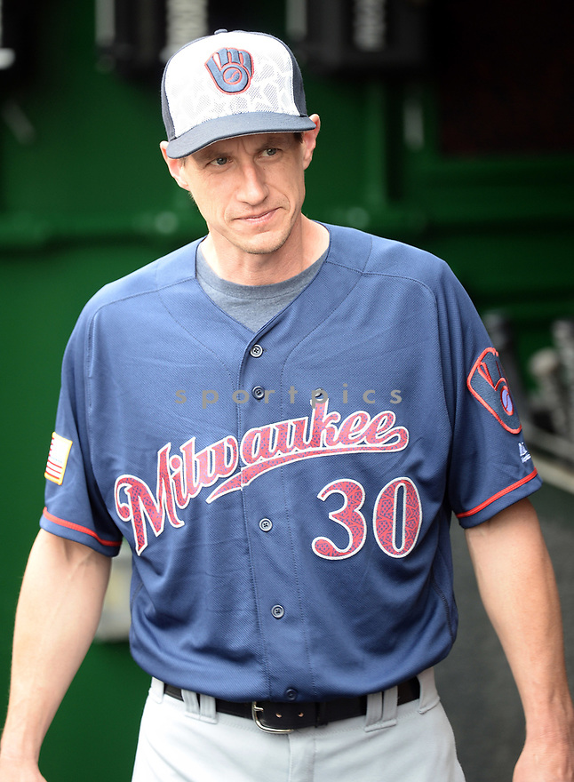 Milwaukee Brewers Craig Counsell (30) during a game against the Washington Nationals on July 4, 2016, at Nationals Park in Washington DC. The Brewers beat the Nationals 1-0.