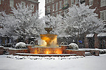 Village of Providence fountain in snow on Christmas Day Dec. 25, 2010.  Bob Gathany Photographer