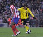 MADRID, Spain (14/02/10).-Liga BBVA de futbol. Partido Atletico de Madrid-FC Barcelona..Lionel Messi.©Raul Perez ..