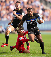 Bath Rugby's Semesa Rokoduguni in action during todays match<br /> <br /> Photographer Bob Bradford/CameraSport<br /> <br /> European Rugby Champions Cup - Bath Rugby v Toulouse - Saturday 13th October 2018 - The Recreation Ground - Bath<br /> <br /> World Copyright © 2018 CameraSport. All rights reserved. 43 Linden Ave. Countesthorpe. Leicester. England. LE8 5PG - Tel: +44 (0) 116 277 4147 - admin@camerasport.com - www.camerasport.com