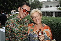 Patrick Giles, Dana Flores==<br /> LAXART 5th Annual Garden Party Presented by Tory Burch==<br /> Private Residence, Beverly Hills, CA==<br /> August 3, 2014==<br /> ©LAXART==<br /> Photo: DAVID CROTTY/Laxart.com==