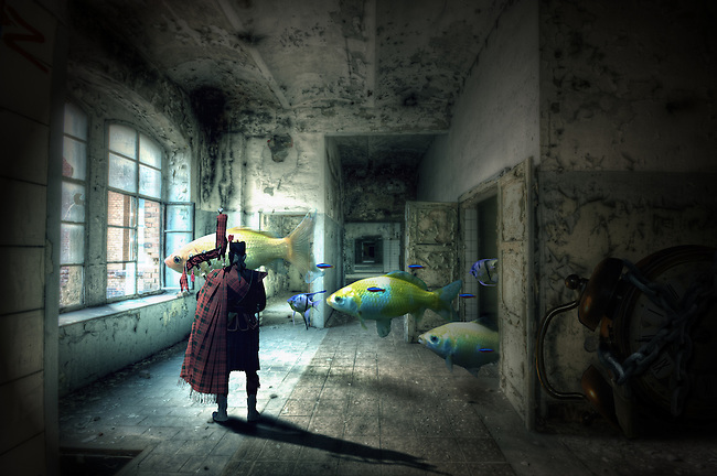 Photo manipulated art.<br /> Surreal image of a drams factory
