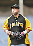 16 May 2012: Pittsburgh Pirates infielder Casey McGehee warms up prior to a game against the Washington Nationals at Nationals Park in Washington, DC. The Nationals defeated the Pirates 7-4 in the first game of their 2-game series. Mandatory Credit: Ed Wolfstein Photo