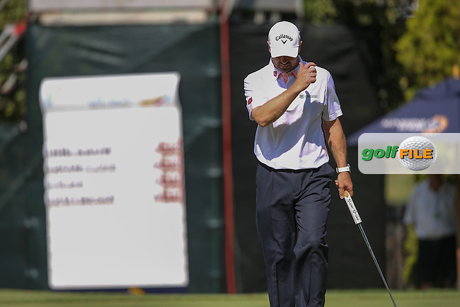 Missed birdie putt by Craig Lee (SCO) leaves him two shots behind the leaders during the Final Round of the Tshwane Open 2015 at the Pretoria Country Club, Waterkloof, Pretoria, South Africa. Picture:  David Lloyd / www.golffile.ie. 15/03/2015