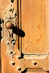 Detail of a door at the Quinta da Regaleria (estate with gardens) in Sintra, Portugal..