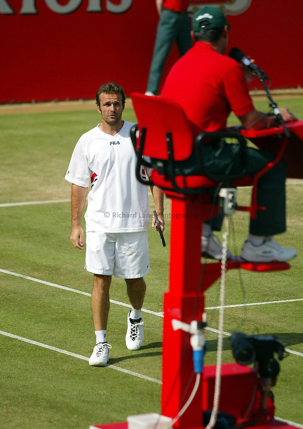 Photograph: Scott Heavey..Day 5 of the Stella Artois Championship at the Queens Club. 13/06/2003..Anthony Dupuis