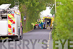 The scene of a Single car Road Traffic accident in Moyvane.