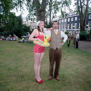 Chaps - Retro socializing in London. 2009. The Chap Olympiad 2009. The Chap Olympiad is an annual event held in central London by the Chap magazine, it allows assorted retro socialisers a place to gather for a day. A chap poses with a swimsuit pin up.