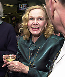 Rosemary Skapley at champagne get together of Newsday staff in the City room to toast the departure of colleagues on Friday March 1, 2002. (Newsday photo by Jim Peppler).