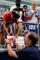 East Hartford, CT - Saturday July 01, 2017: Bruce Arena, Fans during an international friendly match between the men's national teams of the United States (USA) and Ghana (GHA) at Pratt & Whitney Stadium at Rentschler Field.
